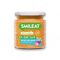 Smileat Tarro Cachitos Arroz Pavo Verduras 230 gr