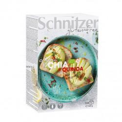 Pan de Molde Chia Quinoa Sin Gluten Schnitzer 500 Gramos
