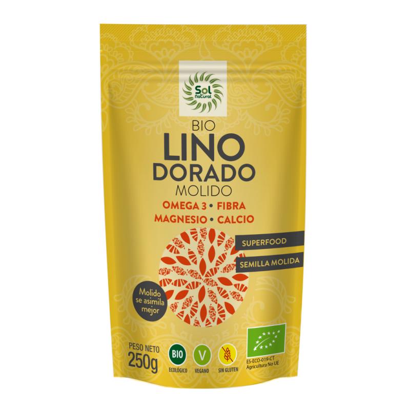 Sol Natural Semillas Lino Doradas Molidas Bio 250g