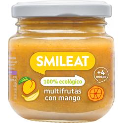 Smileat Tarro Multifrutas y Mango Ecológico 130 gramos