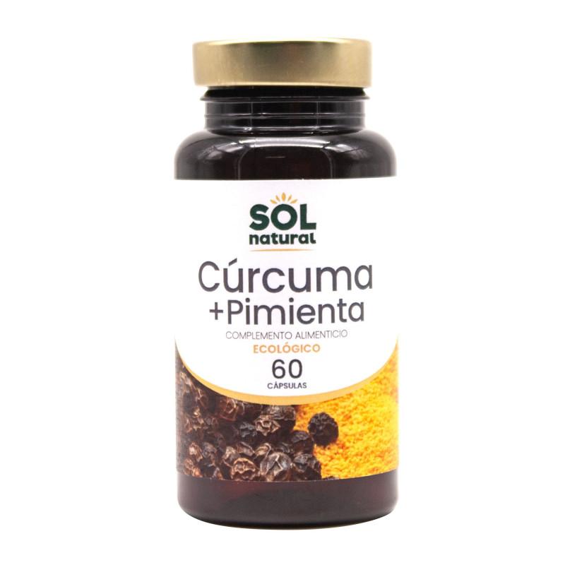 Cúrcuma + Pimienta Negra 60 Cápsulas