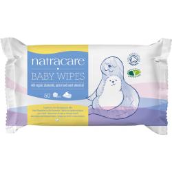 Natracare Toallitas para Bebé de Algodón Ecológico 50 uds