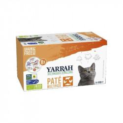 Pate Gatos Pack Yarrah 8x150gr