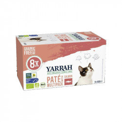 Pate Salmon Gatos Pack Yarrah 8x100gr
