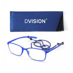 D Visión Gafas Azul Mate +3.00