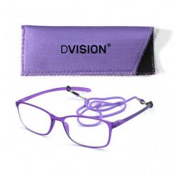 D Visión Gafas Lila Mate +2.50