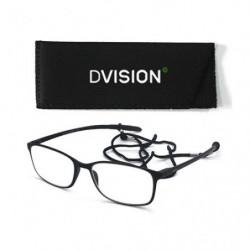 D Visión Gafas Negro Mate +4.00