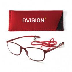 D Visión Gafas Rojo Mate +3.50