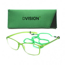 D Visión Gafas Verde Mate +2.00