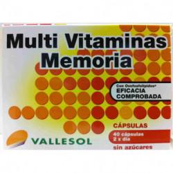 Vallesol Multivitaminas Memoria 40 cápsulas
