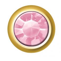 Estelle Pendiente Botón Dorado Piedra Rosa Sii-Crg 110 12 uds