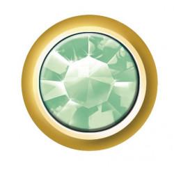Estelle Pendiente Botón Dorado Piedra Verde Sii-Crg108 12 uds