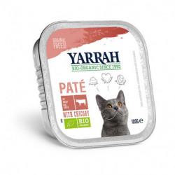 Yarrah Ternera con Pollo para Gatos Bio 100g