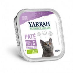 Yarrah Paté de  Pollo con Pavo para Gatos Bio 100g
