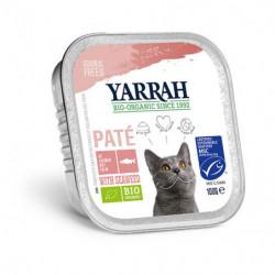 Yarrah Paté de Salmón para Gatos Bio 100g