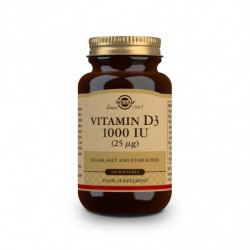 Solgar Vitamina D3 1000UI Aceite de Hígado de Pescado y Colecalciferol 100 cápsulas