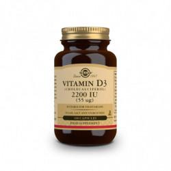 Solgar Vitamina D3 2200UI Colecalciferol 100 cápsulas