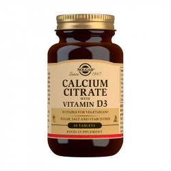 Solgar Calcio Citrato Vitamina D 60 comprimidos