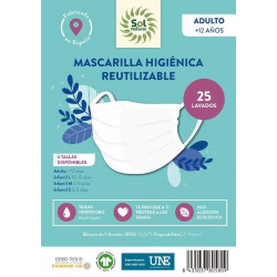 Mascarilla Higiénica Adulto Sol Natural