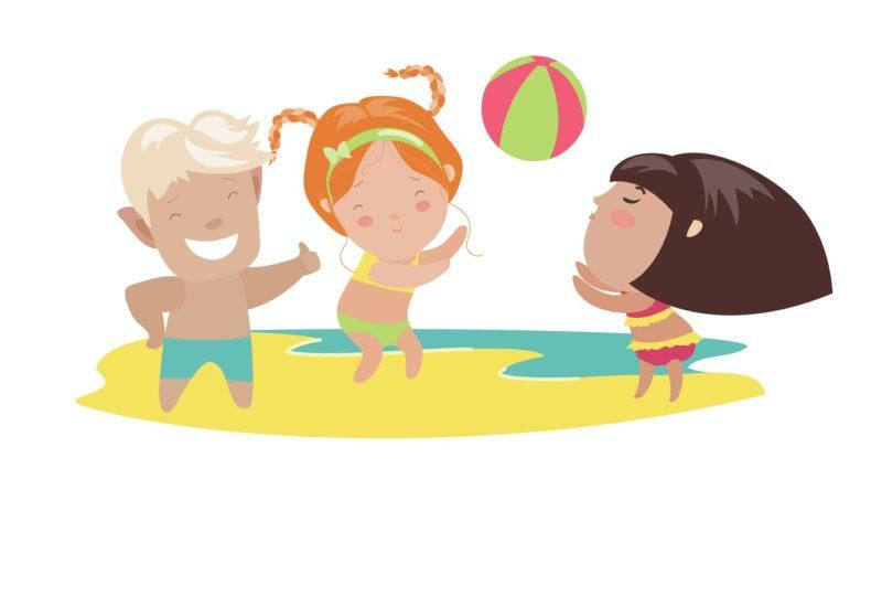 niños en verano pasan calor